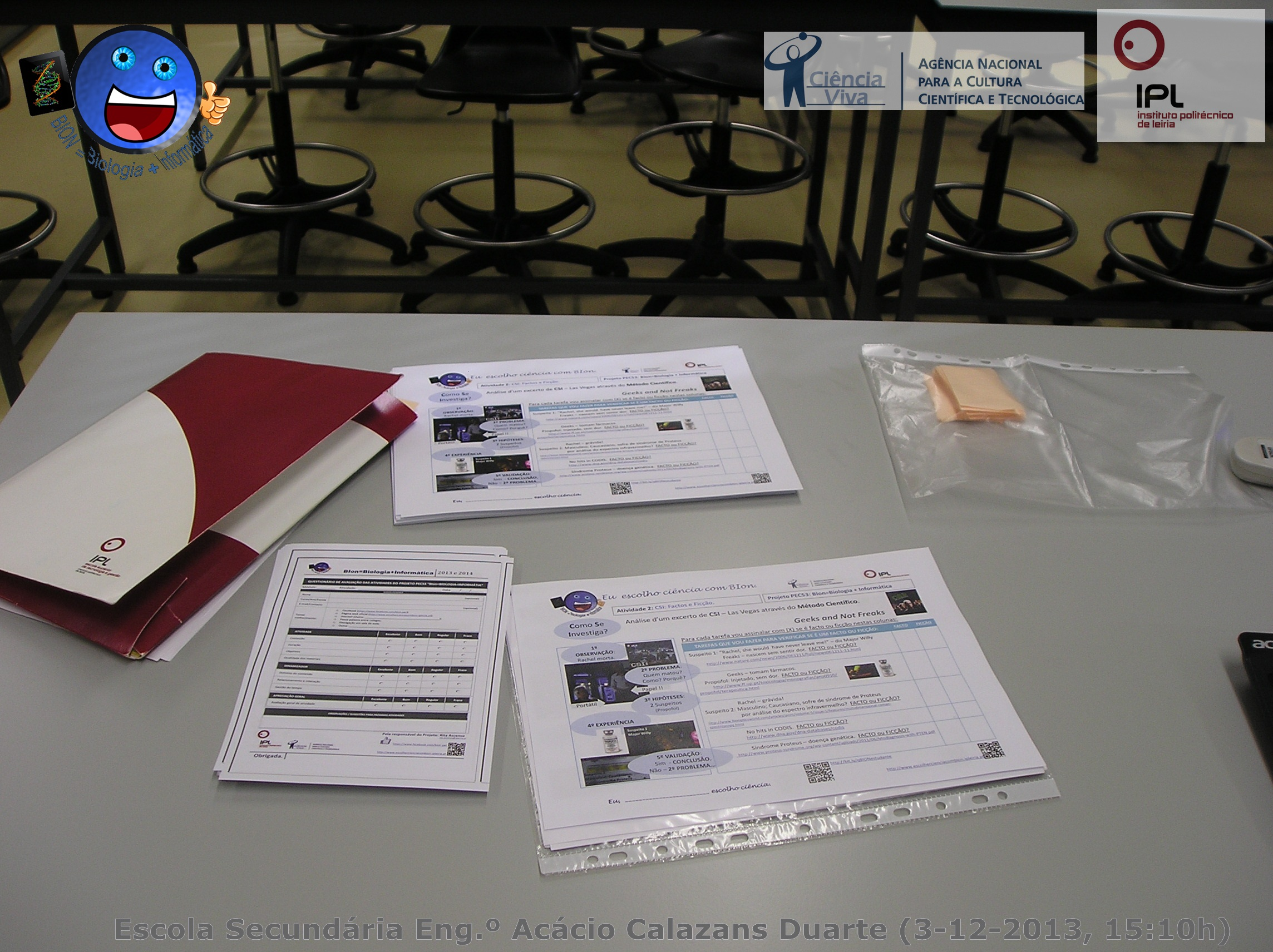 """12º B e 12ºC - atividade 2 """"CSI: factos e ficção"""""""